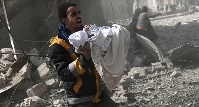 Syrian regime intensifies bombing of rebel-held Eastern Ghouta