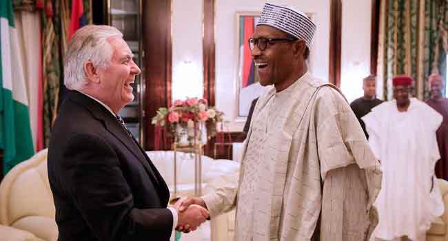 President Buhari Receives Rex Tillerson In Abuja