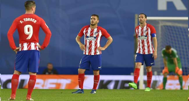 Atletico Madrid suffer lopsided defeat at Real Sociedad