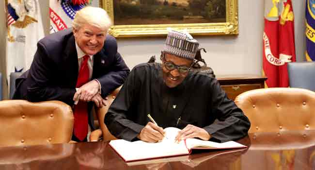President Buhari meets with President Trump at White House