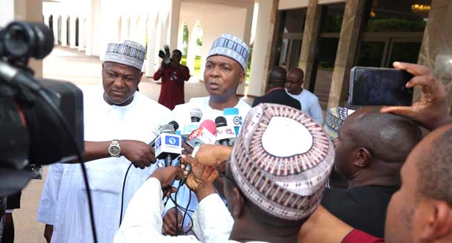 Image result for National Assembly invasion: It's a coup against democracy – Saraki, Dogara