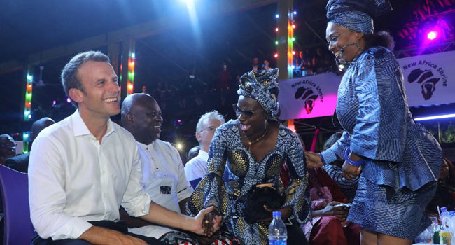 Macron Has Fun At Afrika Shrine With Femi, Angelique Kidjo, Ambode, Others