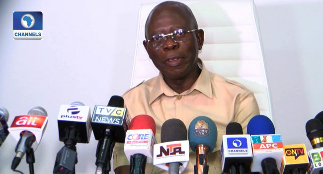 Image result for No more excuses, APC now fully in charge – Oshiomhole
