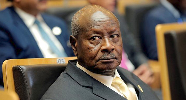 A file photo of Ugandan president, Yoweri Museveni