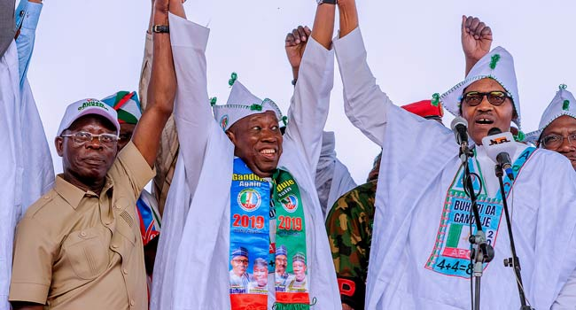 Image result for Buhari 'grandfather' of corruption – Fayose reacts to APC presidential rally, Niger Governors in Kano