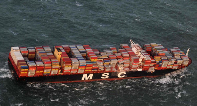 Dutch, Germans recover cargo lost by container ship