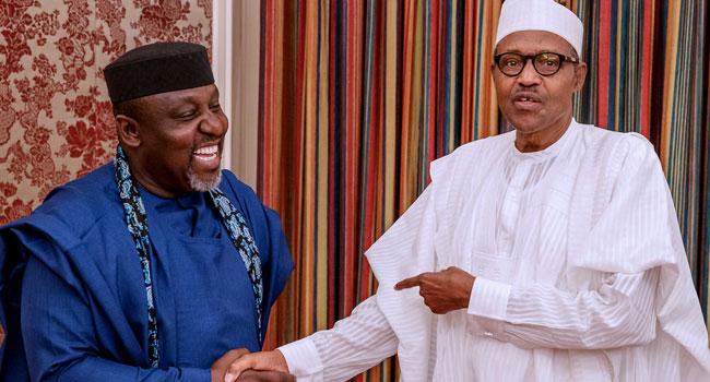 Okorocha Visits Buhari, Wants South-East Considered For NASS Leadership