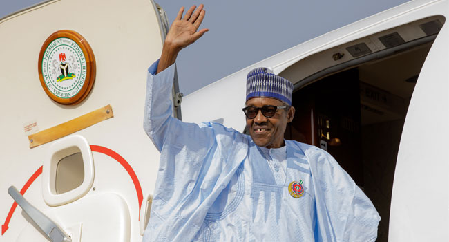 Buhari, 3 Governors Depart For Egypt Ahead Of Aswan Forum