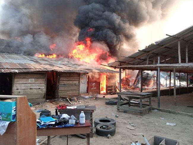 Fire in bayelsa