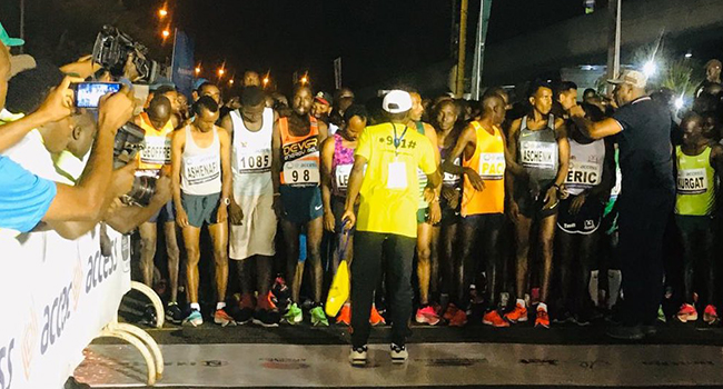 The 2020 edition of the Access Bank-Lagos marathon started in front of the National Stadium in Surulere. Photo Credit: Access Bank