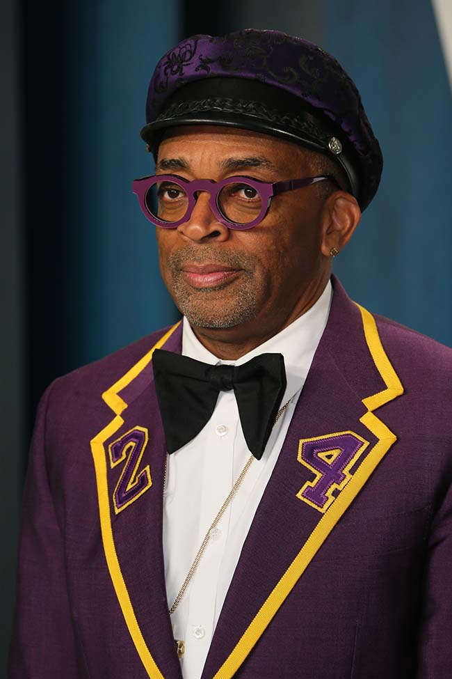 US director Spike Lee attends the 2020 Vanity Fair Oscar Party following the 92nd Oscars at The Wallis Annenberg Center for the Performing Arts in Beverly Hills on February 9, 2020. (Photo by Jean-Baptiste Lacroix / AFP)