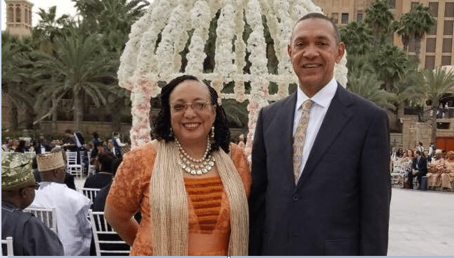 Ben Bruce with his wife, Evelyn (Image Courtesy : twitter.com/benmurraybruce)