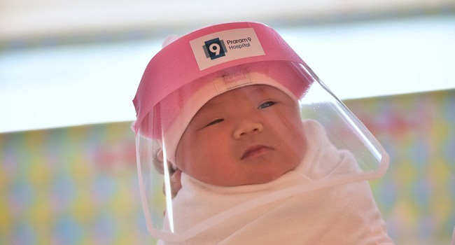 Thai Hospitals Protect Babies Born In A Pandemic With Face Shields