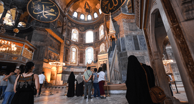 Istanbul's iconic Hagia Sophia will open to visitors outside Muslim prayers, and Christian symbols and mosaics can remain in the building, Turkey's religious authority, Diyanet, said on Tuesday. Christian icons at the UNESCO World Heritage site could be covered by curtains or obscured using lighting, Diyanet said. It was not immediately clear how the measures […]