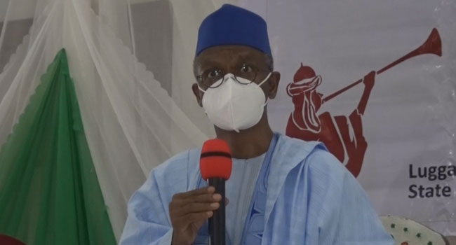 Gov El-Rufai addresses traditional rulers in Kaduna, urging them to lead sensitization campaign on spread of virus.