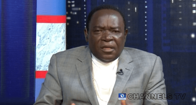 Bishop Mathew Kukah appeared on Channels Television's Politics Today on September 11, 2020.