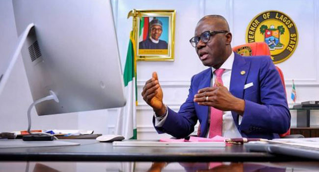 Governor Babajide Sanwo-Olu attends the Eko Educators Webinar Performance Series 3.3 hosted by the Lagos State Teaching Service Commission. Sept 8.
