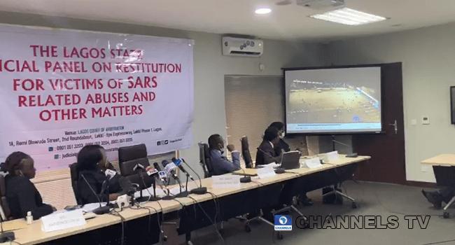 The Lagos State #EndSARS Judicial Panel viewed the footage of the Lekki shootings on November 6, 2020.