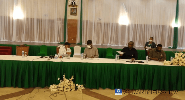 Federal Government representatives met with labour union leaders in Abuja on November 22, 2020.