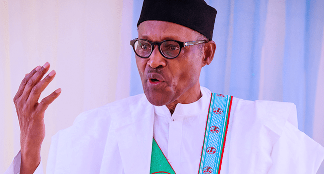 President Muhammadu Buhari speaks during the registration and revalidation exercise of the All Progressives Congress on January 30, 2021.