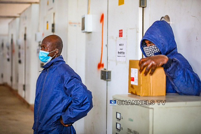 The Executive Director of the National Primary Health Development Agency, Dr Faisal Shuaib gave a tour of the National Strategic Cold Store in Abuja on January 19, 2020. Sodiq Adelakun/Channels Television