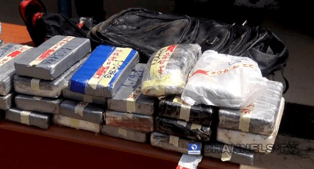 Parcels of cocaine