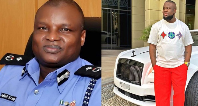 A photo combination of a deputy commissioner of police, Abba Kyari and alleged fraudster, Ramon Abbas, aka, Hushpuppi.