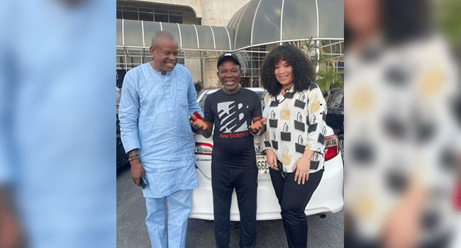 Actor Chiwetalu Agu (m) was released from DSS custody on October 12, 2021.