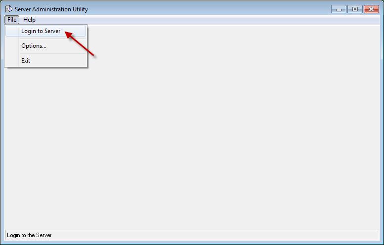 Login To Server Admin