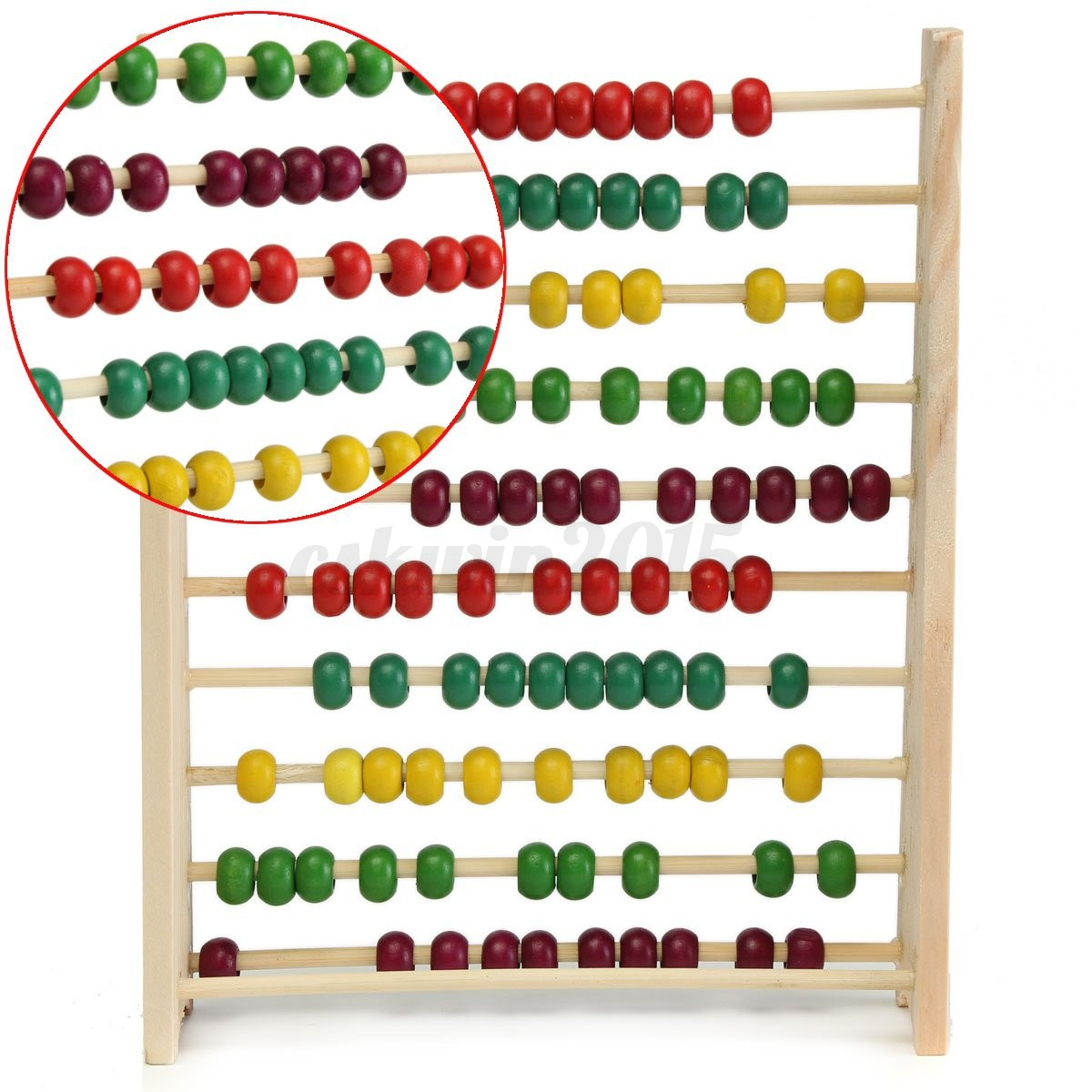 Wooden Abacus 100 Beads Counting Number Preschool Kid Math