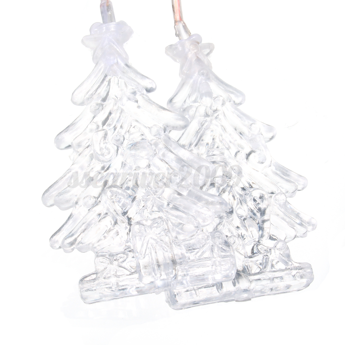 Solar Power Led Color Changing Christmas Tree Wind Chimes