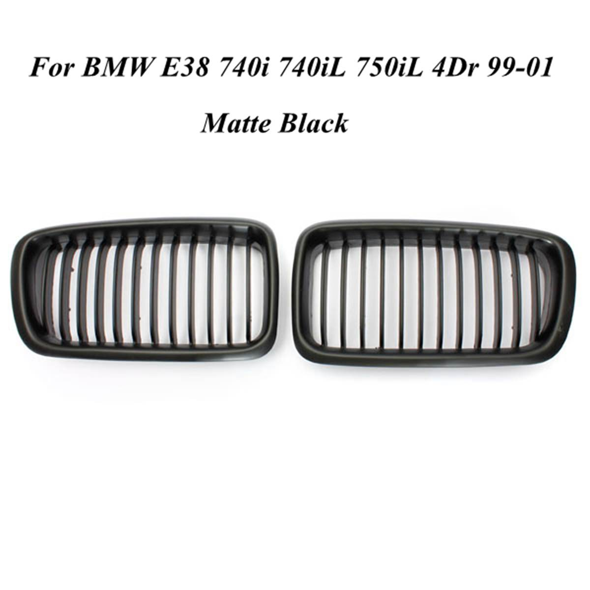 Matte Black Kidney Hood Grille Grill For Bmw E38 740i