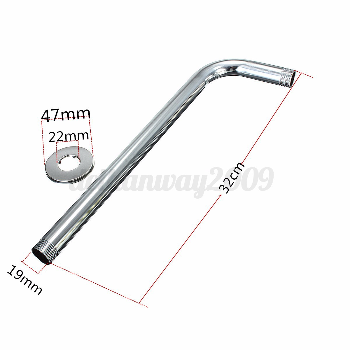 Chrome Shower Head Accessories Curved Arm Rod Connecting