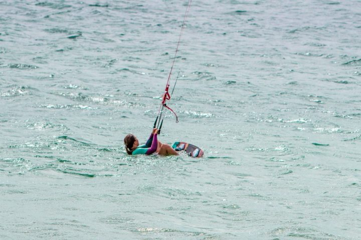 Chantae Cornonations Kitesurfing Sitting in Water