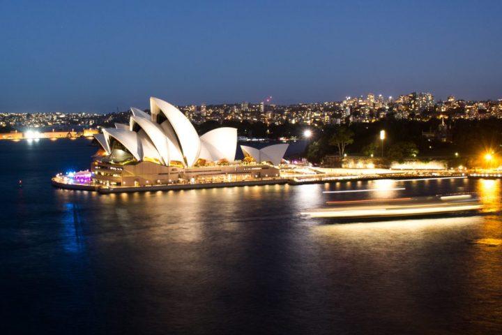 sydney opera house overlookcluseup