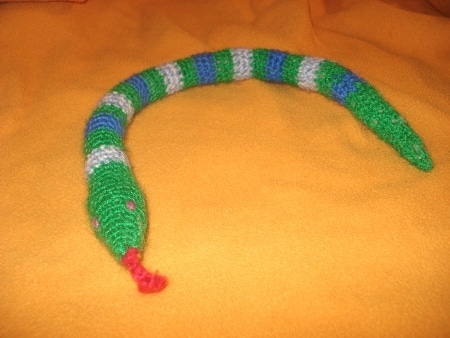 serpent au crochet