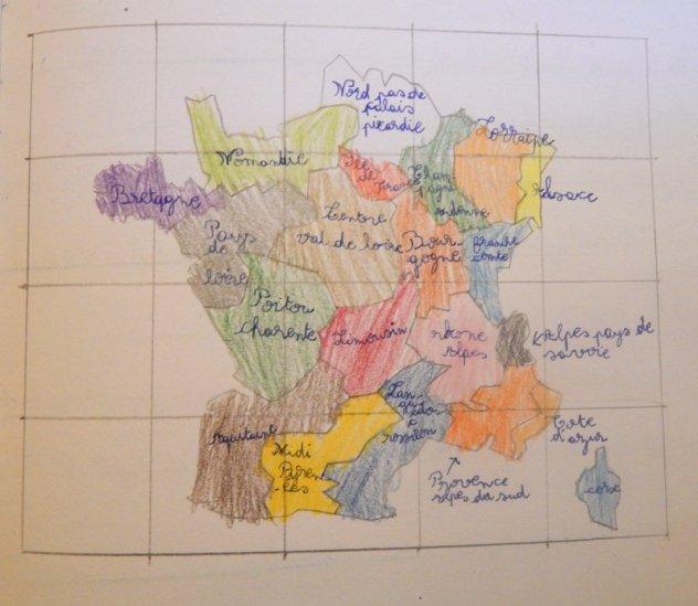 Carte des régions françaises 2