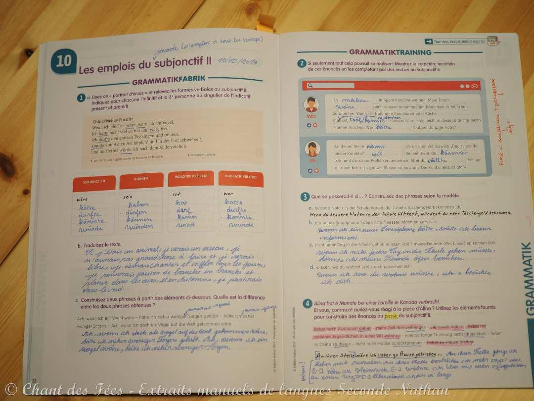 manuels de langue Seconde Nathan