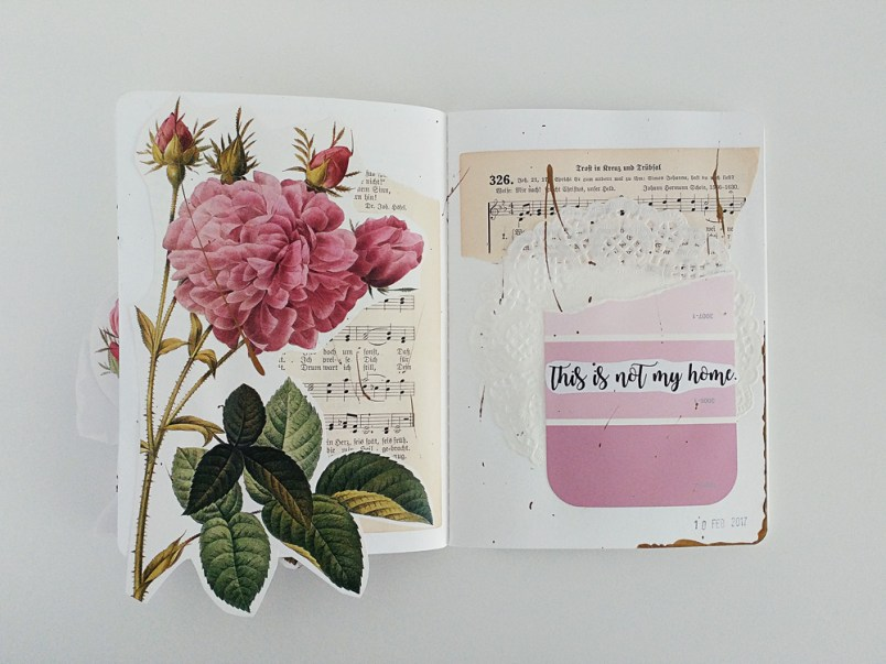 A Mixed Media Art Journal Page Process