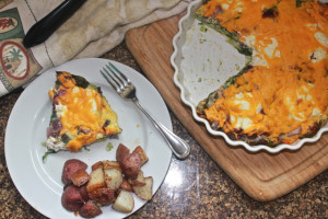 Cut spinach Fritata