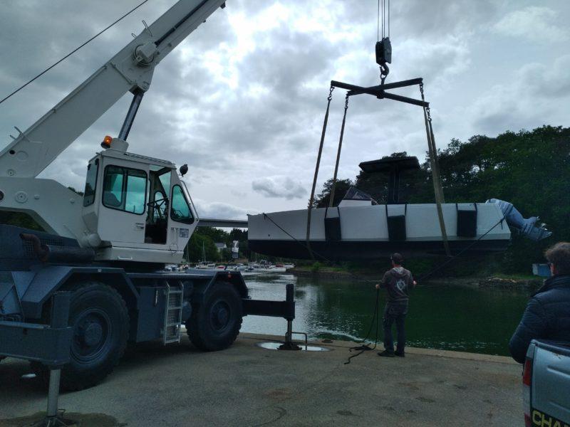 manutention de bateaux