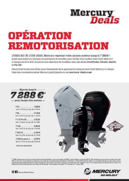 Promotion exceptionnelle remotorisation Mercury