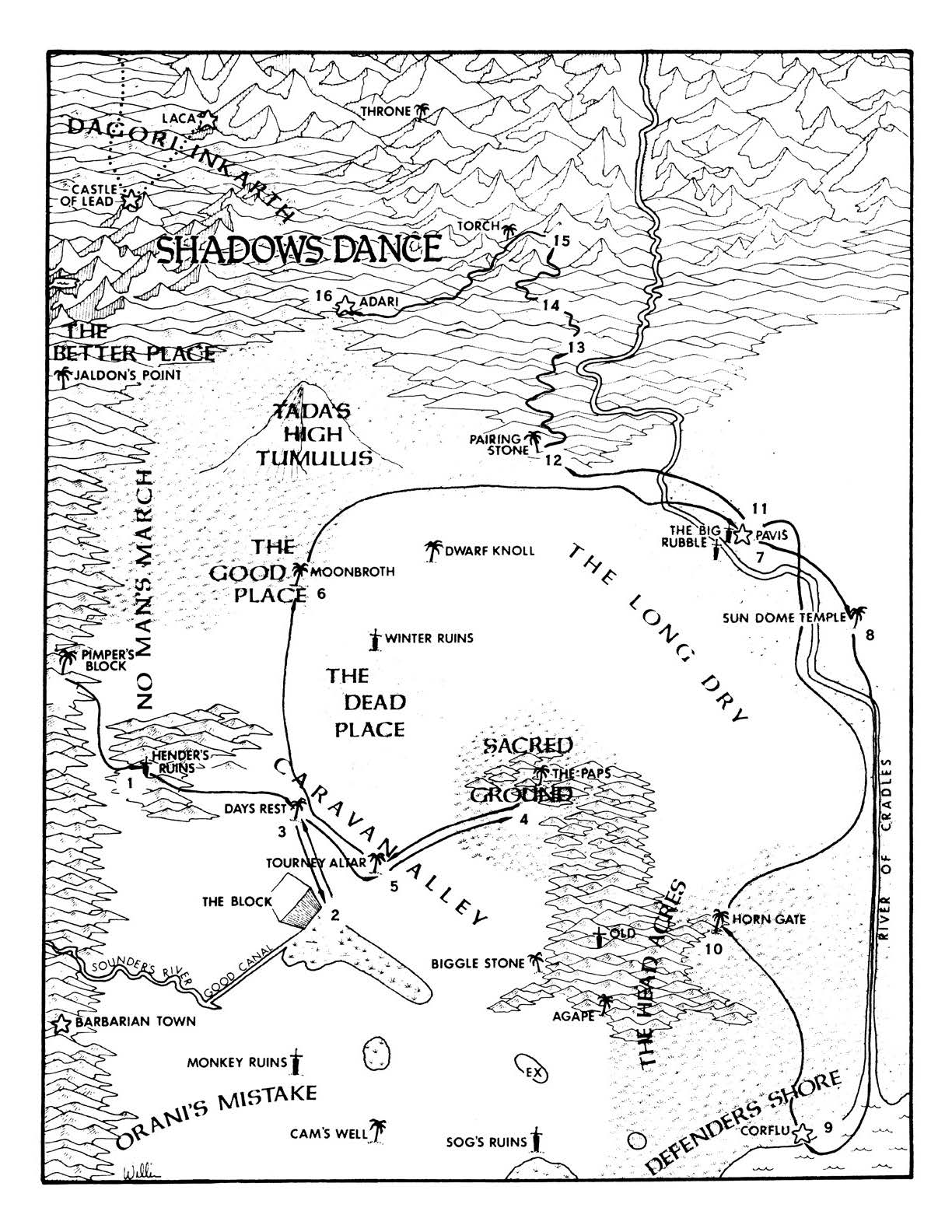 Map of prax by william church