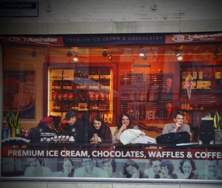 Hier soll's leckere Schokolade geben.