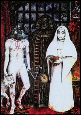 Sinister Tarot, Atu VII, Azoth. Christos Beest