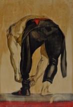 Wetsuit, 2012 oil on birch, fiberglass, surfboard resin 23x33 SOLD