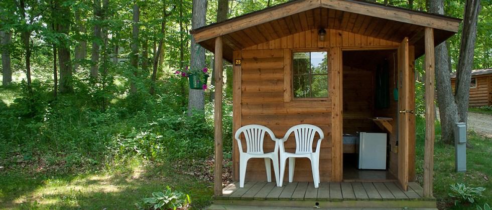 Log Camping Cabin