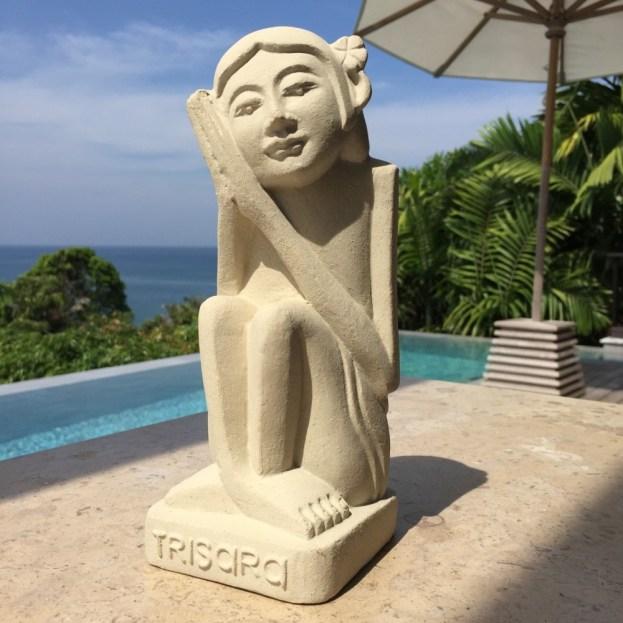 Trisara private pool villa luxury resort statue