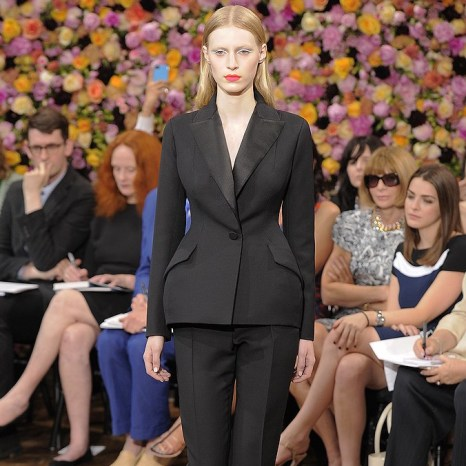 Black couture suit by Raf Simons for Christian Dior