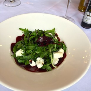 Beetroot salad at Marco's Restaurant Oxford